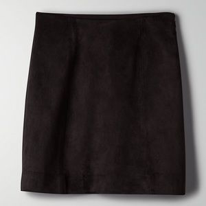 a-line suede mini skirt